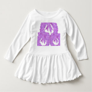Toddler Ruffle Dress Abstract Happy Colors Art