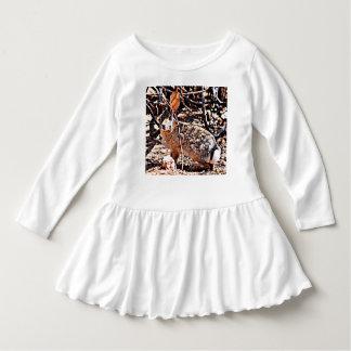 Toddler Ruffle Dress - Posing Bunny