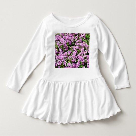 Toddler Ruffle Dress - Purple Flowers