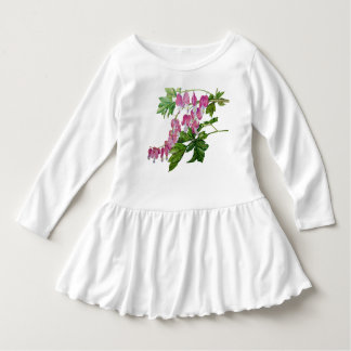 Toddler Ruffle Dress with Bleeding Hearts