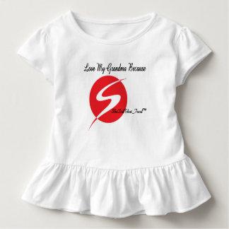 Toddler ruffle T-shirt. Love grandma's cooking Toddler T-shirt
