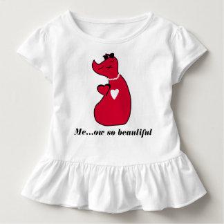 Toddler Ruffle Tee Kitty Cat T-shirt