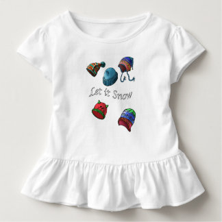 Toddler Ruffle Tee, Let it snow Toddler T-shirt