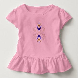 Toddler ruffle tee pink
