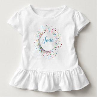 Toddler Ruffled Shirt Confetti and Baby Name