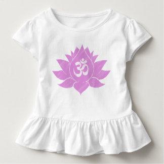 Toddler Ruffled Tee w/ Pink Lotus Flower