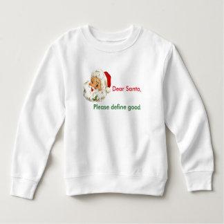 Toddler Sweatshirt Funny Christmas Santa