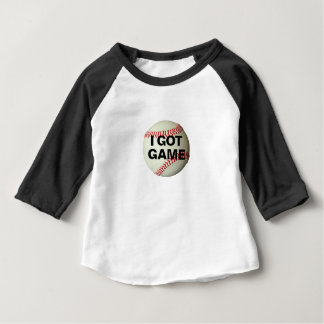 Toddler t-shirt with baseball, with I Got Game