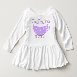 Toddler Tea Time With Grandma Ruffle Dress