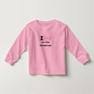 "Toddler Tshirt ""I rock an extra chromosome"""