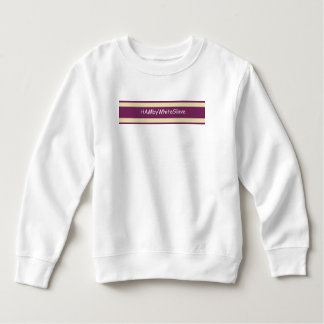 Toddler White/Rasb. HAMbyWhiteGlove Fleece Sweat Sweatshirt