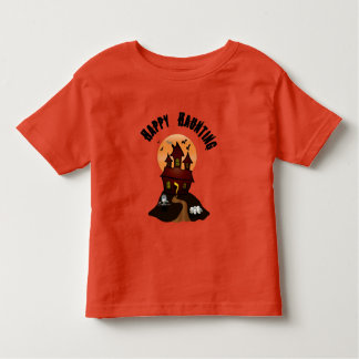Toddler's Orange Happy Haunting Halloween Tshirt