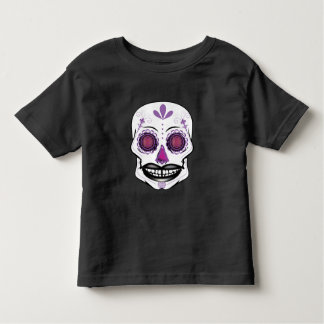Toddlers Purple Candy Skull Shirt