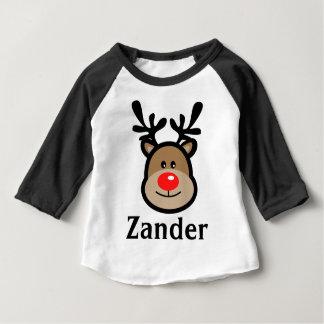 Toddler's Reindeer Christmas Raglan Tee