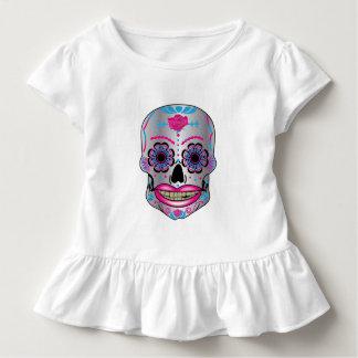 Toddlers Rose Candy Skull Ruffle Shirt