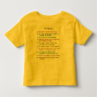Toddler's Rules Toddler T-shirt