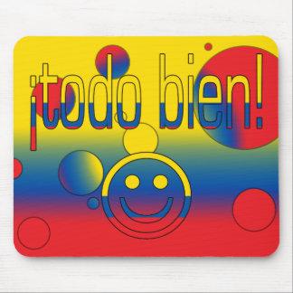¡Todo Bien! Ecuador Flag Colors Pop Art Mouse Pad
