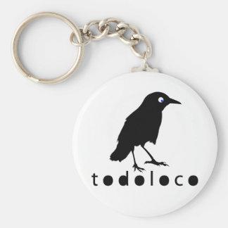 Todoloco Crow Keychain