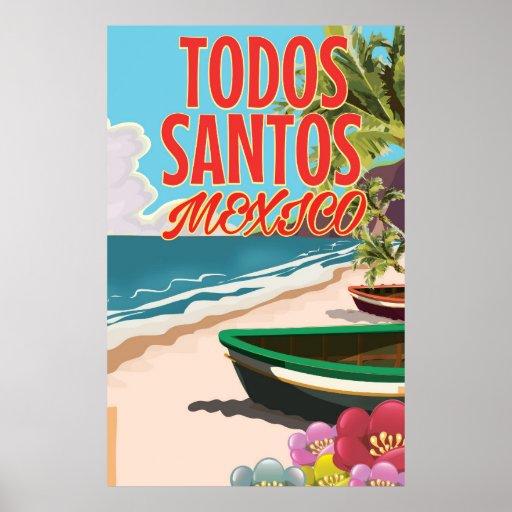 Todos Santos Mexico travel poster