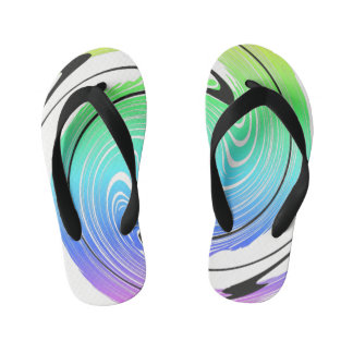 toe lip press Swirl Away Kid's Flip Flops