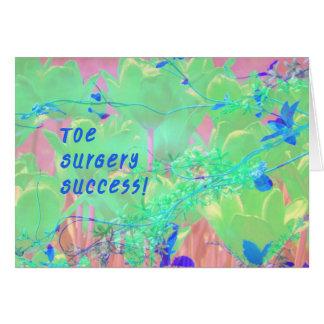 Toe Surgery Success Greeting Card