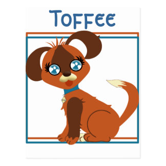 Toffee Toon Pup Postcard