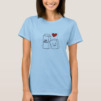 """Tofu Love"" Woman's Baby Doll Tshirt"
