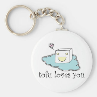 Tofu Loves You Keychain