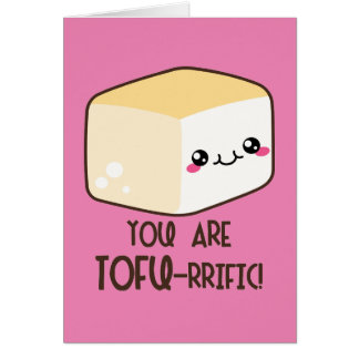 Tofu-rrific Emoji Card