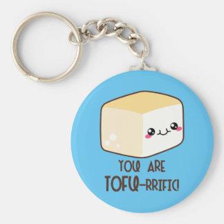 Tofu-rrific Emoji Keychain