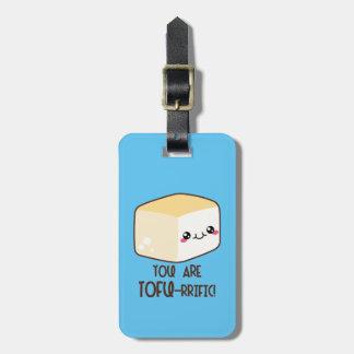 Tofu-rrific Emoji Luggage Tag