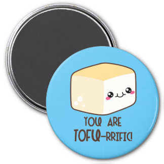 Tofu-rrific Emoji Magnet