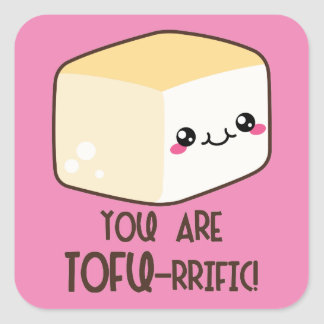 Tofu-rrific Emoji Square Sticker