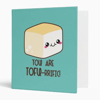 Tofu-rrific Emoji Vinyl Binders