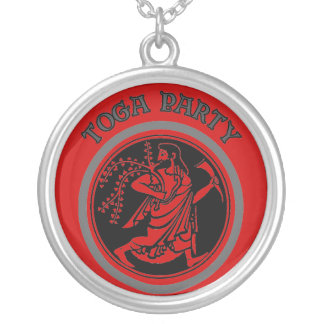 TOGA PARTY SILVER PLATED NECKLACE
