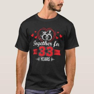 Together 33rd Wedding Anniversary Shirt
