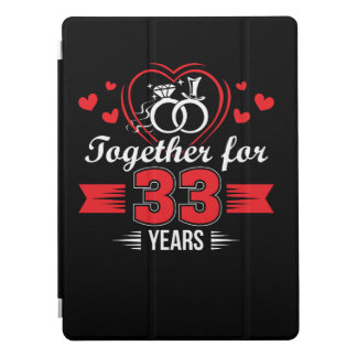 Together 33rd Wedding Anniversary Shirt iPad Pro Cover
