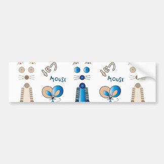 """Together Again"" Cat & Mouse Bumper Sticker"