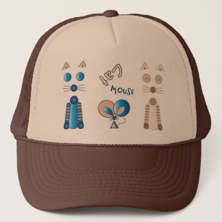 """""""Together Again"""" Cat & Mouse Trucker Hat"""