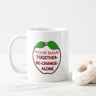 TOGETHER-BE-CHANGE-ALONE apple Coffee Mug