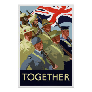 Together -- British Empire WW2 Poster