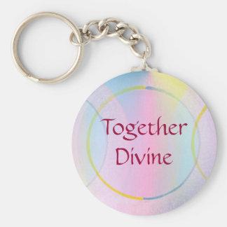 Together Divine Positive Affirmation Keychain