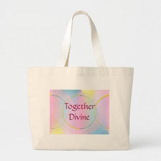 Together Divine Positive Affirmation Large Tote Bag