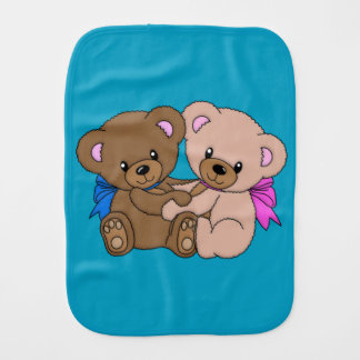 Together Foerever Teddy Bear Burp Cloth
