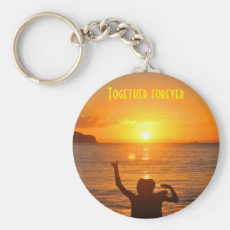 Together forever basic round button keychain