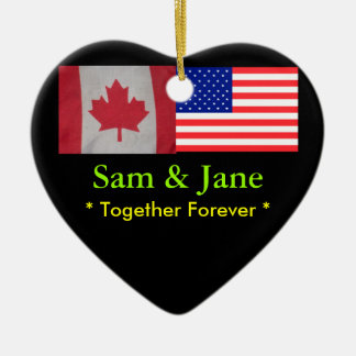 Together Forever Canada & USA Flag Ornament
