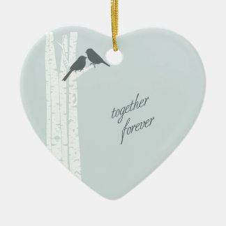 Together Forever Ceramic Heart Ornament