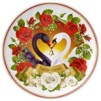Together Forever Decorative Porcelain Plate