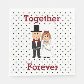 Together Forever Disposable Napkins