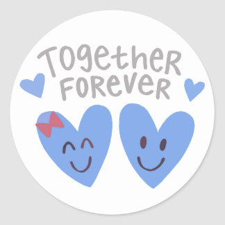 Together Forever Hearts Stickers